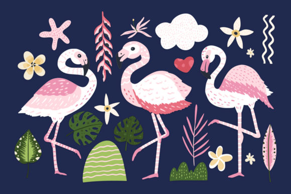 Print on Demand: Flamingo - Big Summer Collection Graphic Illustrations By Red Ink - Image 8