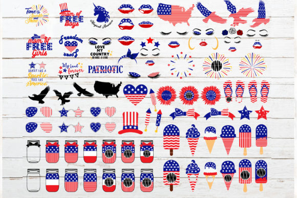 Fourth of July Bundle Graphic Crafts By redearth and gumtrees - Image 2