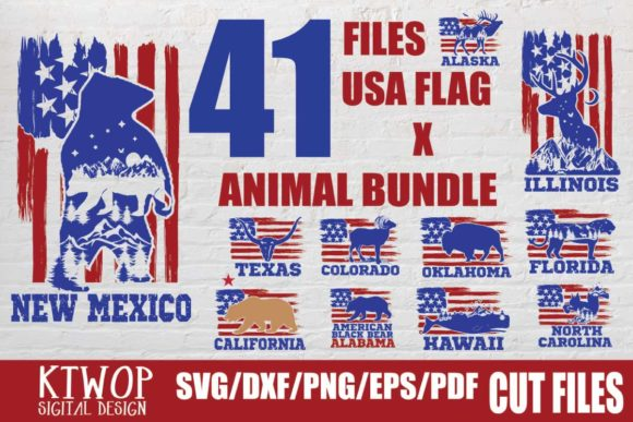 Print on Demand: Fourth of July States Bundle  By KtwoP