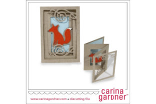 Fox Accordion Card Graphic 3D SVG By carina2