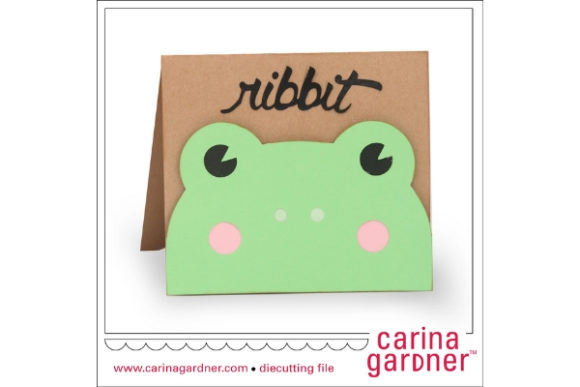 Frog Card Graphic 3D SVG By carina2