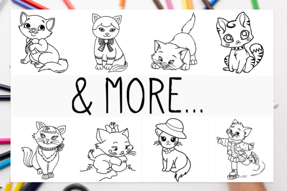 Download Free Funny 15 Cats Coloring Book For Kids Graphic By Designsbundles for Cricut Explore, Silhouette and other cutting machines.
