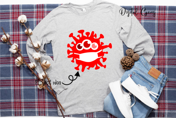 Download Free Germ Designs Graphic By Digital Gems Creative Fabrica for Cricut Explore, Silhouette and other cutting machines.