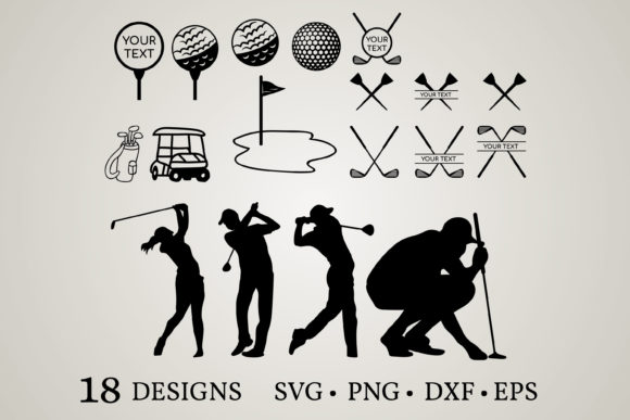 Download Free Golf Bundle Golf Tee Graphic By Euphoria Design Creative Fabrica for Cricut Explore, Silhouette and other cutting machines.