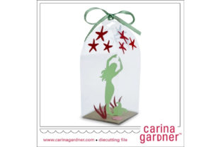 Green Mermaid in a Bottle Graphic 3D SVG By carina2