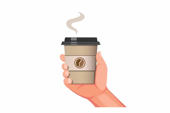 Download Free Hand Holding Coffee Cup Packaging Vector Graphic By Aryo Hadi Creative Fabrica for Cricut Explore, Silhouette and other cutting machines.