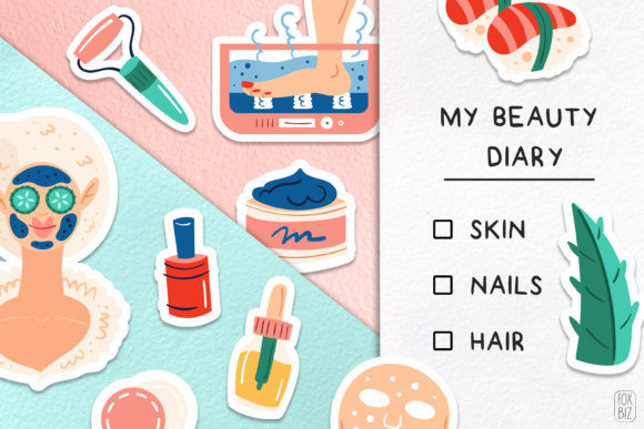 Download Free Home Spa Clipart Digital Prints Stickers Graphic By Foxbiz for Cricut Explore, Silhouette and other cutting machines.