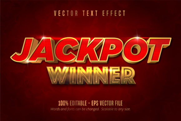 Print on Demand: Jackpot Prize Style, Editable Text Effec Graphic Graphic Templates By Mustafa Bekşen