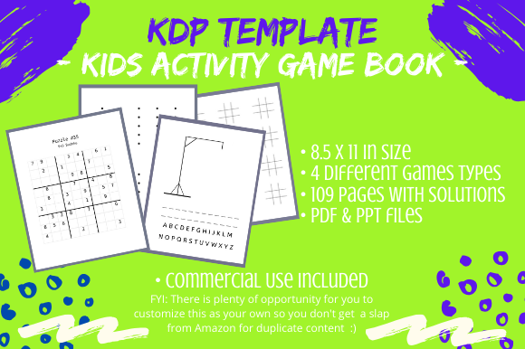 Download Free Kdp Interior Kids Activity Game Book Graphic By Tomboy Designs for Cricut Explore, Silhouette and other cutting machines.