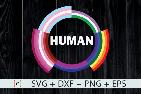 Download Free Human Flag Colorful Gay Pride Month Graphic By Novalia SVG Cut Files