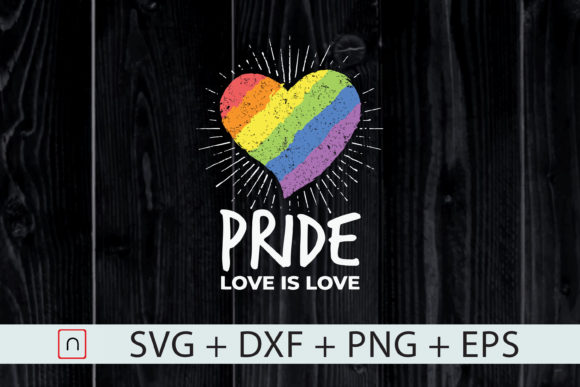 Download Free Lgbt Pride Love Is Love Rainbow Heart Graphic By Novalia for Cricut Explore, Silhouette and other cutting machines.
