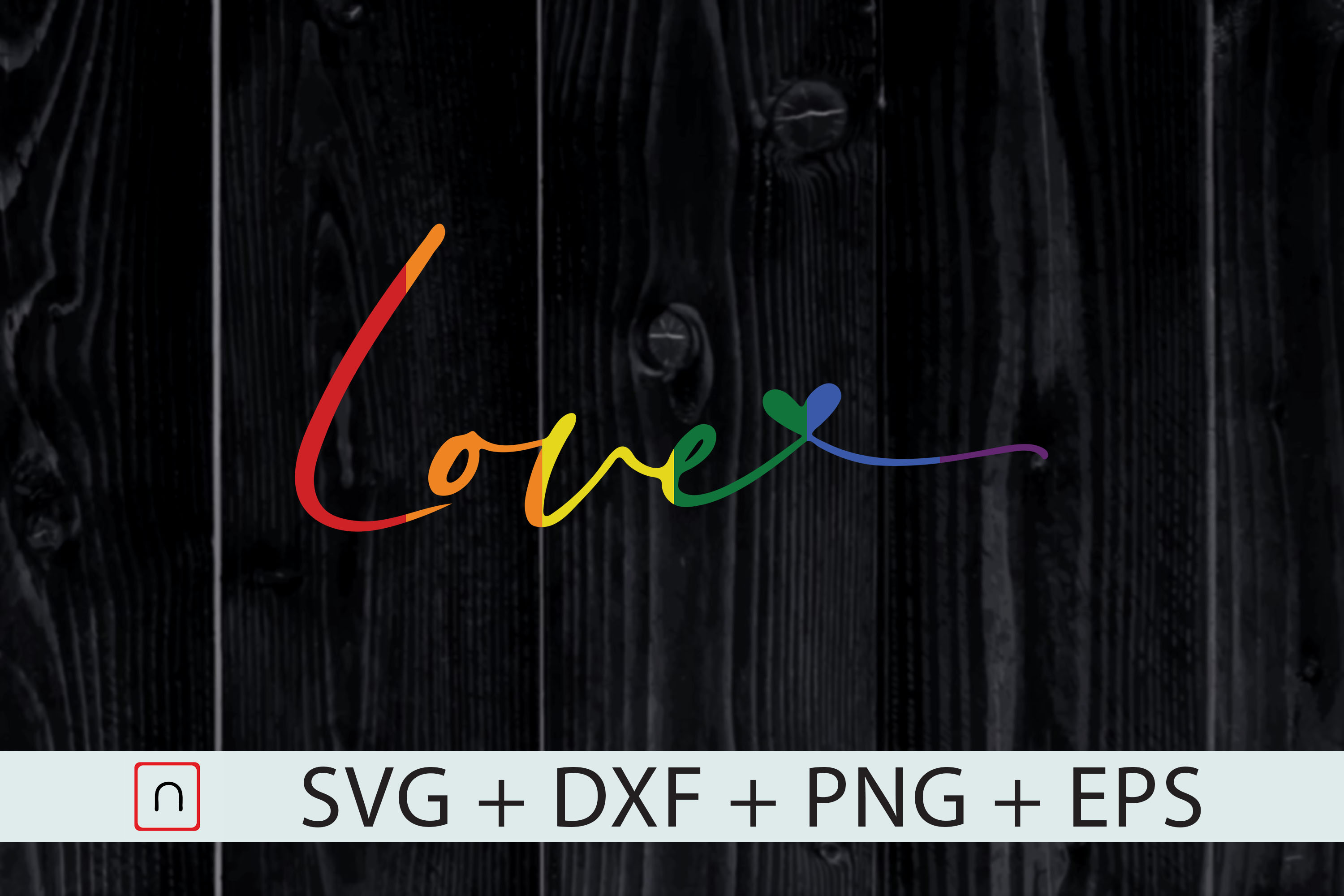 Download Free Lgbt Rainbow Love Heart Pride Month Graphic By Novalia SVG Cut Files
