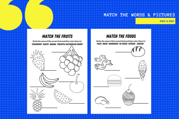 Match the Words to Pictures Package X 5 Graphic Download
