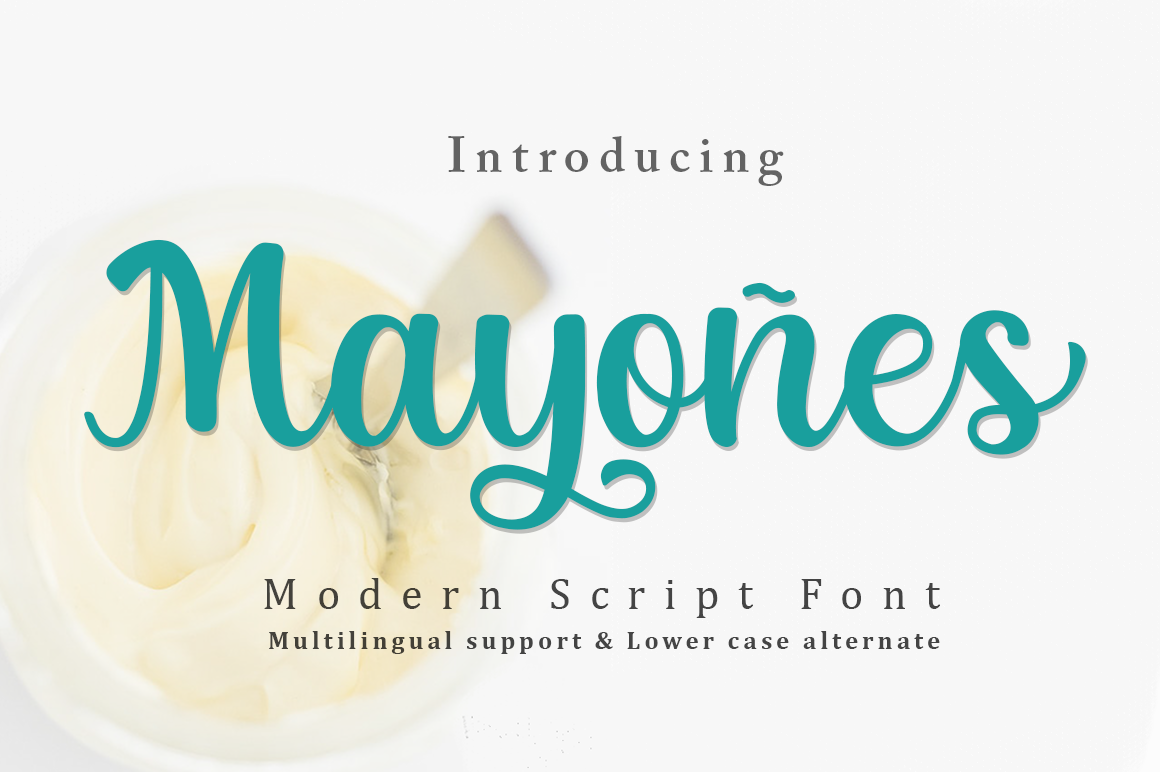 Download Free Mayones Font By Manjalistudio Creative Fabrica for Cricut Explore, Silhouette and other cutting machines.
