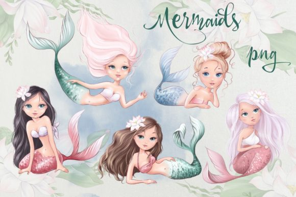 Print on Demand: Mermaid Story Graphic Illustrations By nicjulia - Image 3