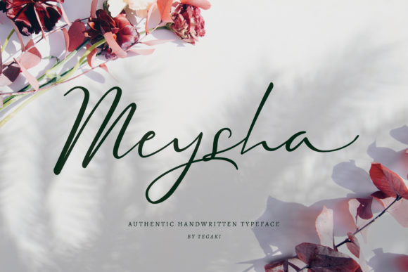 Print on Demand: Meysha Script & Handwritten Font By Tegaki