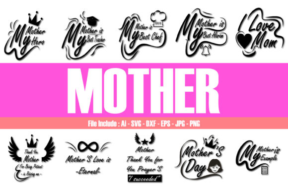 Download Free Mother Graphic By Mahesa Design Creative Fabrica for Cricut Explore, Silhouette and other cutting machines.