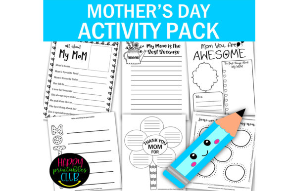 Download Free Mother S Day Writing Activity Book Graphic By Happy Printables for Cricut Explore, Silhouette and other cutting machines.