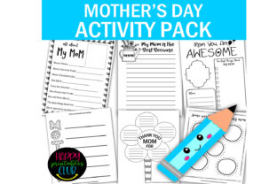 Mother's Day Writing Activity Book Graphic K By Happy Printables Club