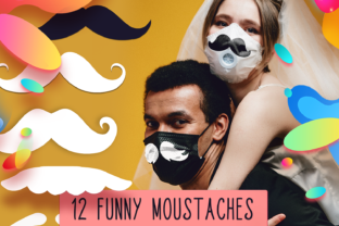 Moustache Face Mask Designs Files Grafik Plotterdateien von Craft-N-Cuts