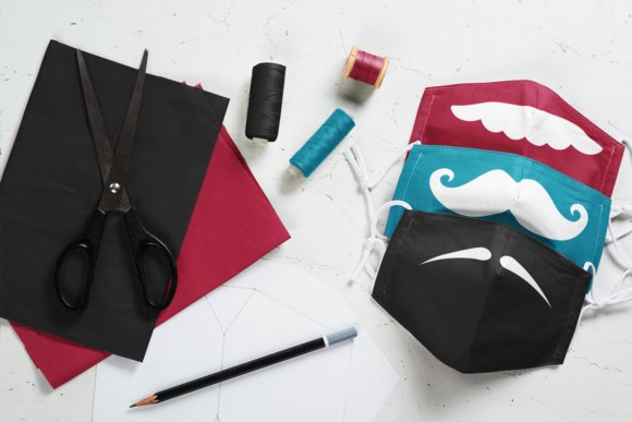 Download Free Moustache Face Mask Designs Files Graphic By Craft N Cuts Creative Fabrica for Cricut Explore, Silhouette and other cutting machines.