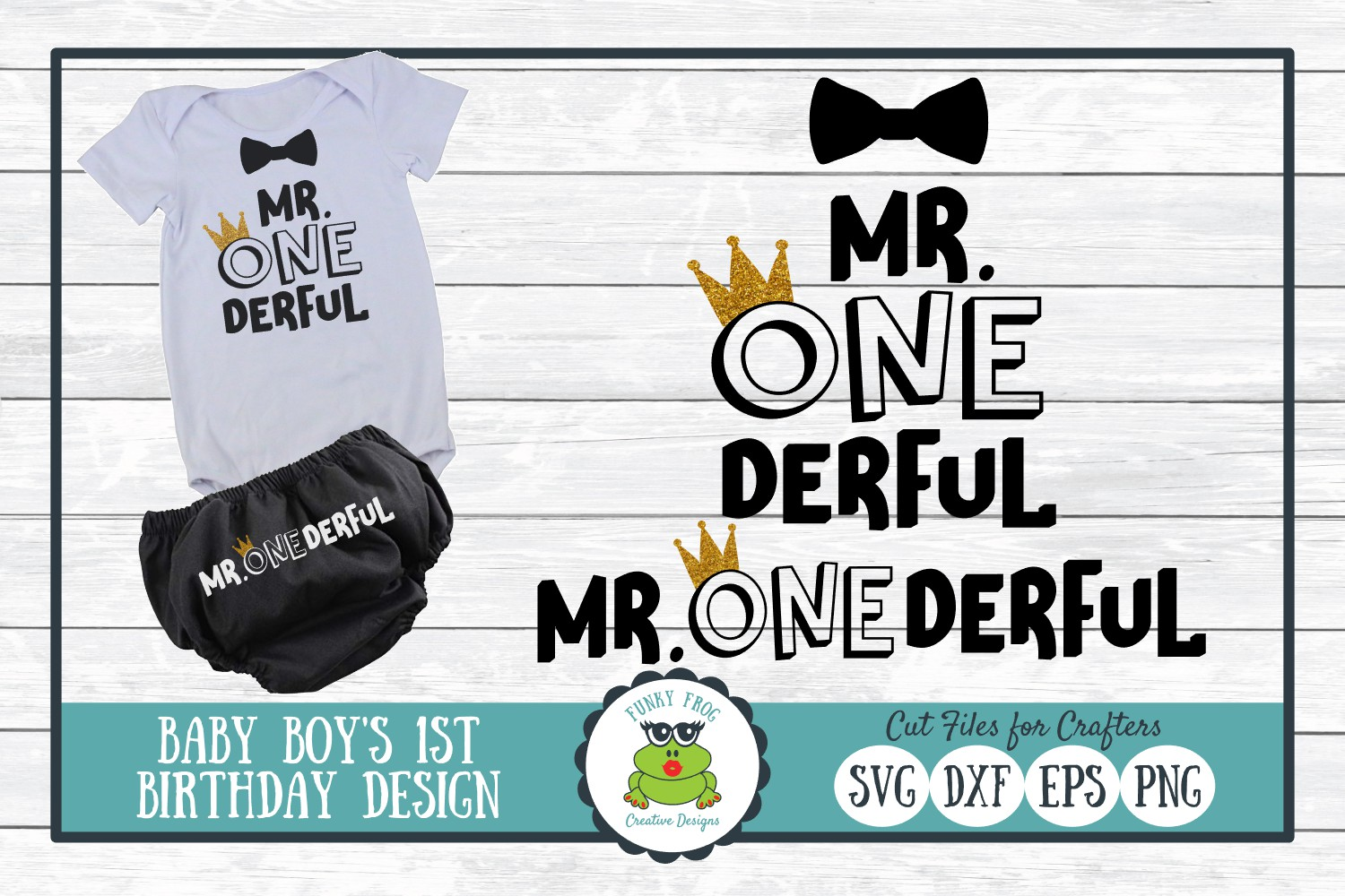 Download Free Mr One Derful First Birthday Graphic By for Cricut Explore, Silhouette and other cutting machines.