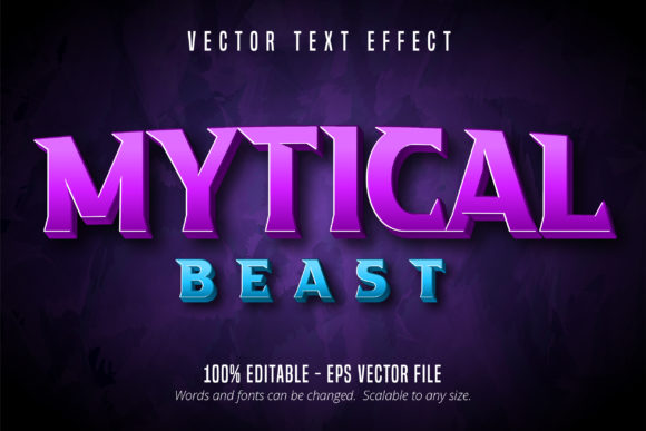 Print on Demand: Mytical Beast Text Effect Graphic Graphic Templates By Mustafa Bekşen