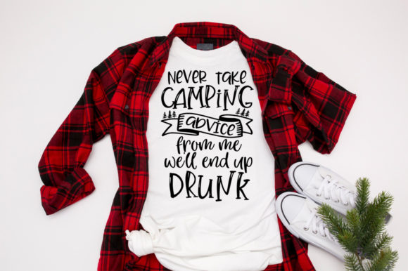 Download Free Never Take Camping Advice From Me Graphic By Simply Cut Co for Cricut Explore, Silhouette and other cutting machines.