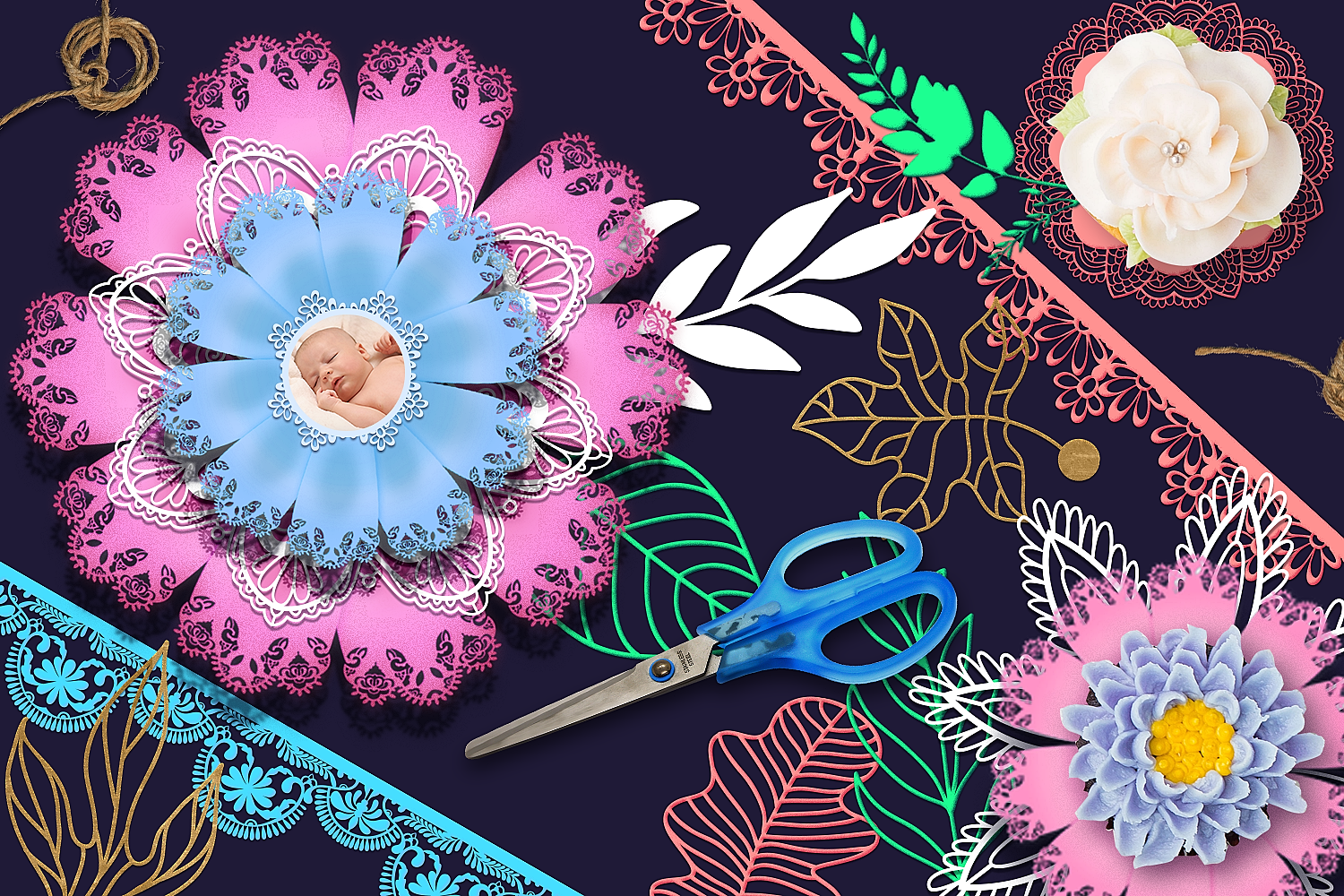 Download Free Paper Flower Templates Pack Graphic By Craft N Cuts Creative for Cricut Explore, Silhouette and other cutting machines.