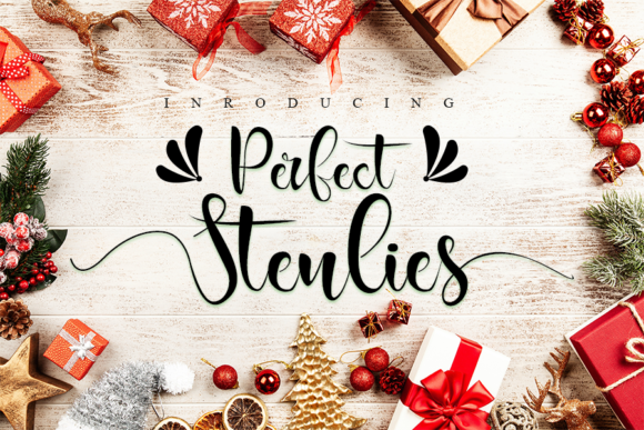 Print on Demand: Perfect Stenlies Script & Handwritten Font By Inermedia STUDIO - Image 1