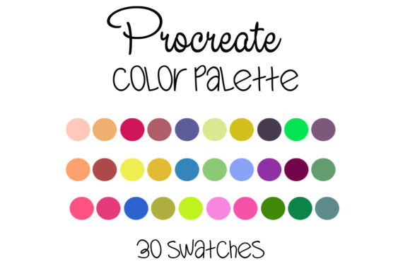 Procreate Color Palette --006 Graphic Add-ons By SweetDesign