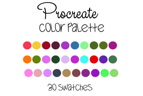 Procreate Color Palette --011 Graphic Add-ons By SweetDesign