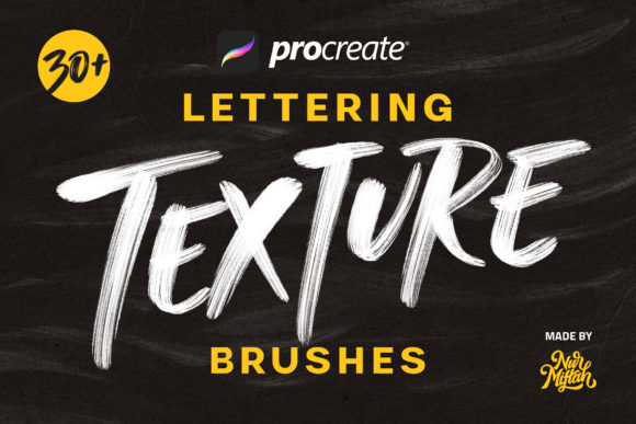Procreate Lettering Texture Brushes Graphic Brushes By Nurmiftah