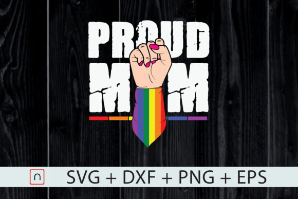 Print on Demand: Proud Mom , LGBT Pride Month Graphic Print Templates By Novalia