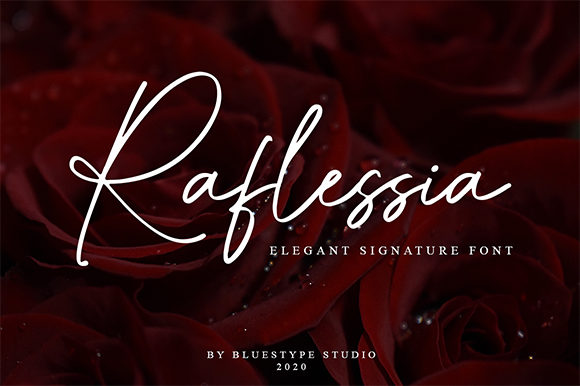Print on Demand: Raflessia Script & Handwritten Font By Bluestype Studio