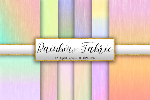 Rainbow Fabric Texture Background Graphic Backgrounds By PinkPearly