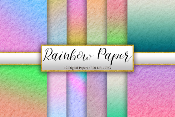 Rainbow Paper Texture Background Graphic Backgrounds By PinkPearly