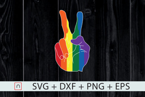 Print on Demand: Rainbow Peace Hand, LGBT Gay Pride Month Graphic Print Templates By Novalia