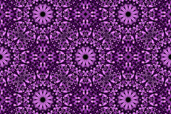 Download Free Seamless Purple Floral Mandala Pattern Graphic By Davidzydd for Cricut Explore, Silhouette and other cutting machines.