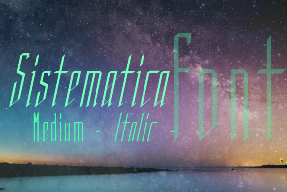 Print on Demand: Sistematica Display Font By infinitismo