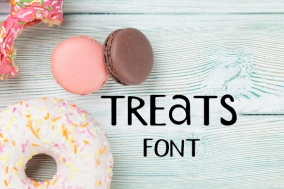 Print on Demand: Treats Display Font By carina2