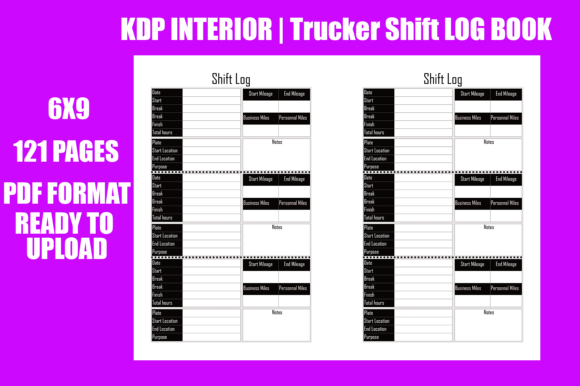 Download Free Trucker Shift Log Book Graphic By Gael Creative Fabrica for Cricut Explore, Silhouette and other cutting machines.