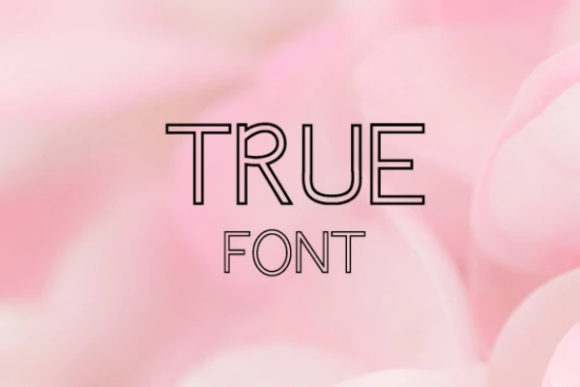 Print on Demand: True Display Font By carina2