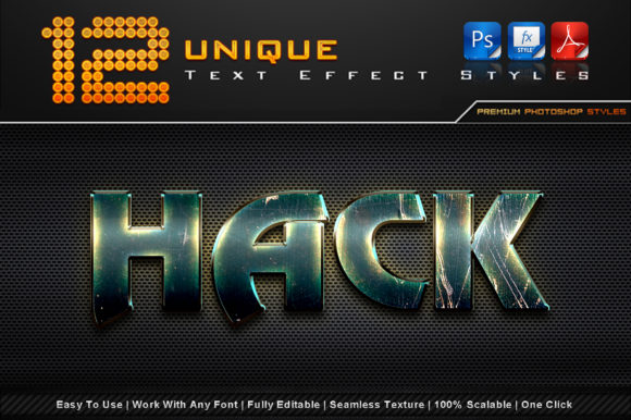 Unique Text Effect Styles (4) Graphic Add-ons By MualanaDesign