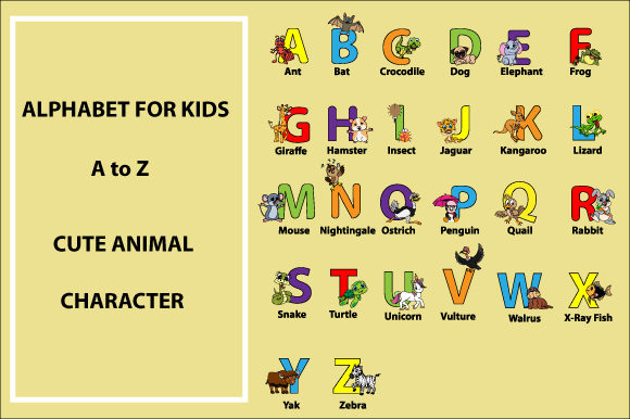 Print on Demand: Uppercase Kids Alphabet for Kids Graphic Illustrations By curutdesign