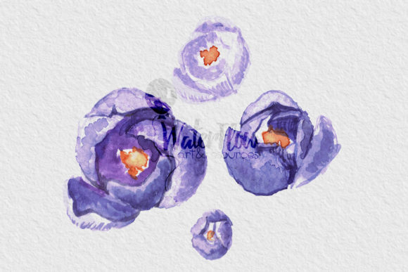 Download Free Watercolor Set Blooming Garden Graphic By Waterflowart for Cricut Explore, Silhouette and other cutting machines.