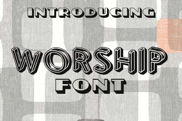 Print on Demand: Worship Display Font By vladimirnikolic