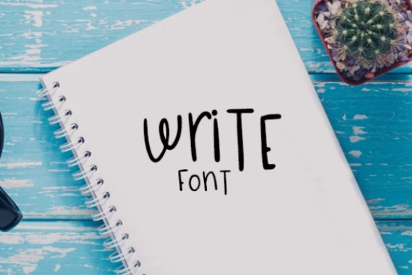 Print on Demand: Write Display Font By carina2