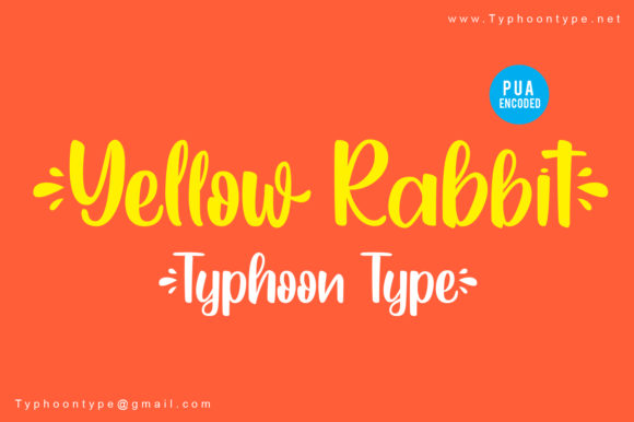Print on Demand: Yellow Rabbit Script & Handwritten Font By Typhoon Type - Suthi Srisopha