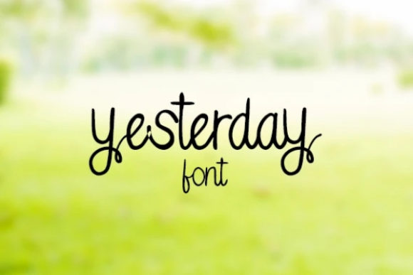 Print on Demand: Yesterday Script & Handwritten Font By carina2